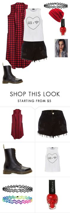 """""""Me + wifi"""" by pansexual-punk-14 ❤ liked on Polyvore featuring River Island, Dr. Martens, Ally Fashion, Accessorize, Hot Topic and KBETHOS"""