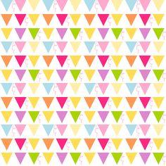 free digital party bunting scrapbooking paper - ausdruckbares Geschenkpapier - freebie
