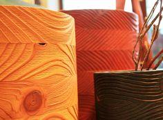 """Wooden objects """"chimneys"""" / drevené objekty """"komíny"""""""