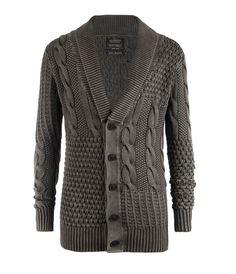 Whitby Cardigan, Men, Knitwear, AllSaints Spitalfields