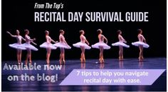Get through recital season with ease with our Recital Day Survival Guide! Link below! #dance Top Of The Morning, Dance Training, Bar Set Up, Ring True, Dance Recital, Wish You The Best, Dance Studio, Life Savers, First Dance