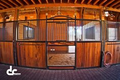 This gorgeous Monitor Style barn in Penn Valley, CA has 6 stalls, a washroom, and a beautiful tack room. From the classic equine stall fronts, he rubber aisle pavers, the goose neck lighting, to the stable comfort mattress system in the horse stalls, this barn is a serious horse lovers dream!
