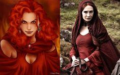 Melisandre, Books vs TV Show