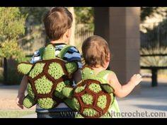 #Crochet Turtle Backpack #TUTORIAL crochet animals DIY backpack Fun crochet - YouTube