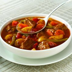 Slow Cookers Vegetable Beef Soup Recipe - Savor the taste of hearty, homemade vegetable beef soup in your slow cooker.