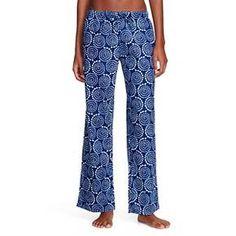Flora by Rockflowerpaper Women's Woven Sleep Pajama Pant - Pinwheel Navy