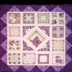 Purple hankie quilt by Leslie Wade