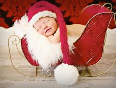 Baby Christmas Hat Photo Prop ($25): Make baby's very first Christmas pictures even more memorable with a Baby Christmas Hat Photo Prop. Isn't it adorable?