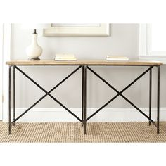 Safavieh Simon Natural Console Table - Overstock™ Shopping - Great Deals on Safavieh Coffee, Sofa & End Tables
