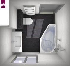 Kleine badkamer met slimme douche/badcombinatie