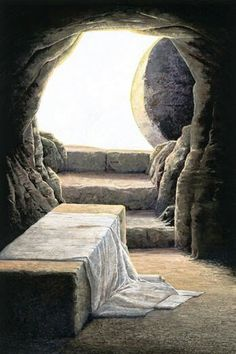God and Jesus Christ Jesus Tomb, Empty Tomb, Pictures Of Jesus Christ, Easter Pictures Of Jesus, Jesus Christus, Jesus Resurrection, Biblical Art, Bible Art, Scripture Art