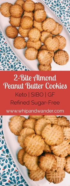 These Almond Peanut Butter Cookies are my go-to for a simple guilt-free treat that fits both Keto and SIBO diets. They're grain-free, gluten-free, refined sugar-free, and egg-free. If made in the 15 Mouth Watering Keto Diet Friendly Cookie Recipes Keto Cookies, Almond Flour Cookies, Cookies Et Biscuits, Paleo Peanut Butter Cookies, Bacon Cookies, Cookies Soft, Keto Biscuits, Shortbread Cookies, Coconut Flour