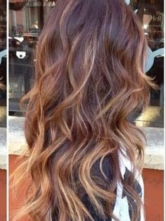 This is a low maintenance tri color wave. Use 7A, HLA 40 vol. and just a few thin bleach foils. This gives a medium to dark brown hair some dimension