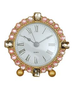 Love this Crystal-Accent Pewter Clock by Creative Co-Op on #zulily! #zulilyfinds