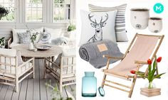 Bamboo chaise and white decorationd are perfect to the porch #veranda #garden #scandinavian
