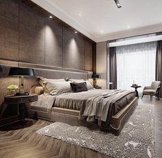 Bedroom modern interior design rugs ideas for 2019 Luxury Bedroom Design, Master Bedroom Design, Bedroom Designs, Bedroom Ideas, Taupe Bedroom, Bedroom Decor, Bedroom Boys, Luxury Homes Interior, Luxury Home Decor