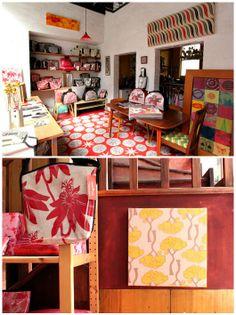 The Richmond studio / city home of textile designer Nicola Cerini.