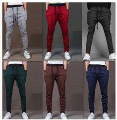 Online Cheap Harem Pants New Style Fashion 2015 Casual Skinny Sweatpants Sport Pants Crotch Jogging Pants Men Jogger Sarouel Lm 68 By Jakep Mens Jogger Pants, Sport Pants, Slim Joggers, Jogger Sweatpants, Boys Pants, Sarouel Pants, Harem Pants, Slacks Pants, Hot Men