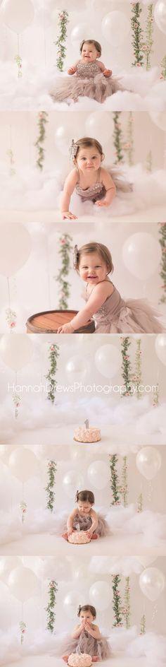 cloud tutu du monde cake smash chicago baby photographer #cakesmash #diybackdrop…