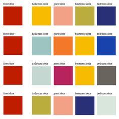 The Le Corbusier palette