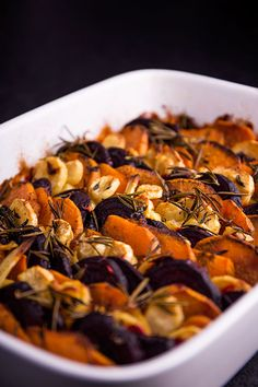Slow roasted root vegetable tian. this one requires some time.