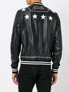 Create a cool look with a key piece from the designer leather jackets edit at Farfetch. Find men's leather biker jackets from coveted labels. Mens Designer Leather Jackets, Leather Jackets Online, Leather Fashion, Leather Men, Mens Fashion, Motorcycle Jacket, Bomber Jacket, Find Man, Philip Plein