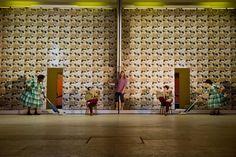 Hair. Darmstadt Staatstheater. Scenic design by Annemarie Woods.