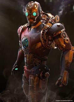 - Steampunk Iron Man  By Jean-Sébastien Rolhion