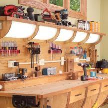 Wood Second Chance: Bancada de trabalho multifuncões