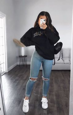 Baddie Outfits Casual, Trendy Fall Outfits, Casual School Outfits, Winter Fashion Outfits, Retro Outfits, Cute Casual Outfits, Simple Outfits, Look Fashion, Stylish Outfits