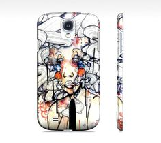 Watercolor and ink cell phone case  Samsung by ArtOfPrincessM