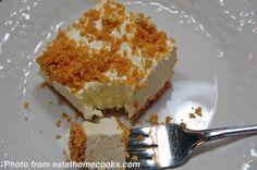 frozen lemon-cheesecake... sounds good on a hot summer day...
