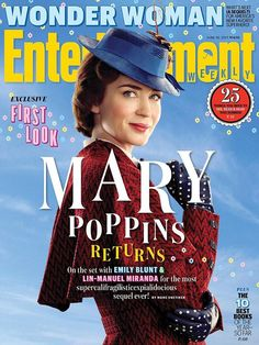 Emily Blunt poses in costume as Mary Poppins for EW cover | Daily Mail Online