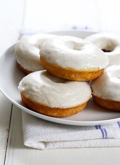 Gluten Free Glazed Vanilla Bean Donuts Completely improvised with 1/2 a cup of sugar instead of 3/4, 1 cup applesauce, 3 tbsp butter, 2 tbsp coconut oil, and no yogurt