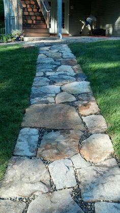 Stone pathway 6-17-12