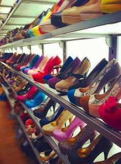 Image via We Heart It https://weheartit.com/entry/83593655/via/13802995 #beautiful #blue #colours #heels #highheels #love #pink #red #shoes #yellow