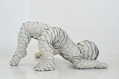 Leather Art, Sabi Van Hemert, Artist, Untitled, 2011, leather, synthetic material, pins, 32x63x71 cm