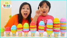 Ryan Pretend Play with Ice Cream Shop and learn to count to Ryan play with kitchen playset and cook food for daddy! Then Ryan, Emma, and Kate play the . Ryan Toysreview, Baby Life Hacks, Red Tractor, Learn To Count, Unicorn Face, Pretend Play, American Girl, Kids Toys, Challenges