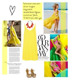 """Summer Dress"" by youaresofashion ❤ liked on Polyvore featuring Topshop, Gucci, Tory Burch, Giallo, women's clothing, women's fashion, women, female, woman and misses"