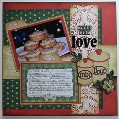 I'm going to scrap my mom's hand printed christmas cookie recipes and include pictures of the finished product as shown here. save the originals in the book to be passed down....