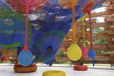 A playground hand-knit by Toshiko Horiuchi MacAdam