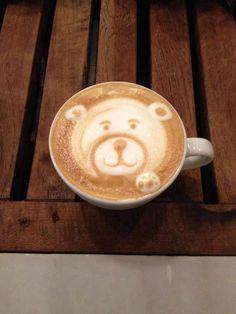 Hello..! Teddy Latte art