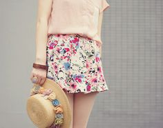pink with floral by tinytoadstool by shan shan, via Flickr