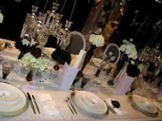 The Hottest Wedding Look: Black, White and Bedazzled Black And White Wedding Theme, Diy Your Wedding, Centerpieces, Table Decorations, Wedding Looks, Wedding Stuff, Here Comes The Bride, Custom Invitations, Party Favors
