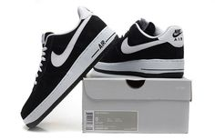 Men's Nike Air Force 1 Low Black White Shoes