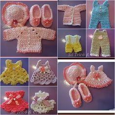 Lembrancinhas de maternidade: roupinhas de bebê em miniatura.