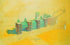 Aldo Rossi   Edificio de Apartamentos Südliche Friedrichstadt   Berín; Alemania   1981-1988
