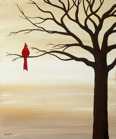 Fine Art Print Red Bird by SugarCreekArt on Etsy, $50.00
