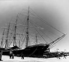 101 years ago the steel-hulled four-masted barque Peking, one of the last windjammers ever built, was launched at Blohm & Voss shipyard in Hamburg, Germany. She worked mostly in the nitrate and wheat trades around South America's treacherous Cape Horn, but also saw service against her home nation during World War II while serving in the Royal Navy as HMS Pekin.