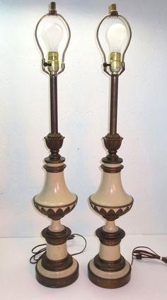 hollywood regency lighting. pair of vintage brass pineapple lamps hollywood regency lighting and a